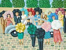 Schilderij van expositie