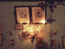 Jezus en Maria met lichtjes