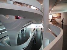 Interieur gebouw Biennale São Paulo van architect Niemeyer