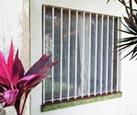 Foto raam met tralies