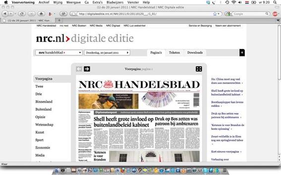 Schermafbeelding NRC digitale editie