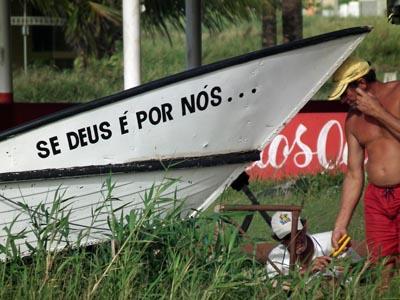Foto spreuk op boot