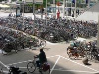 Foto fietsenstalling