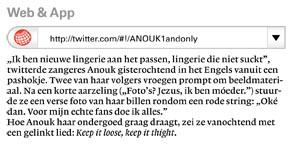 Artikeltje over Anouks ondergoed