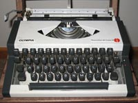 Foto draagbare schrijfmachine
