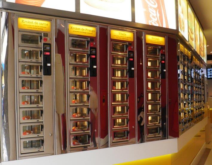 Automatiek: deurtjes met snacks