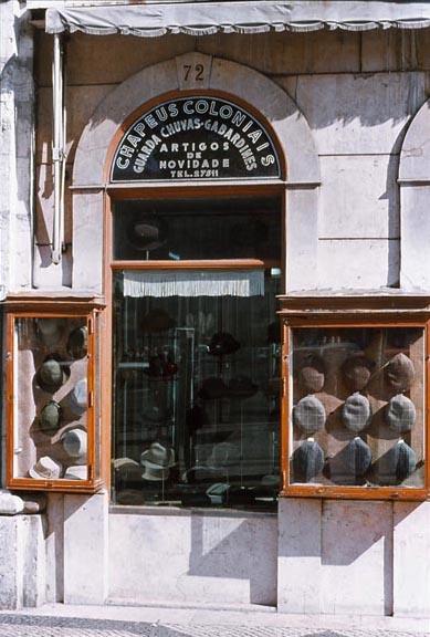 Foto hoedenwinkel