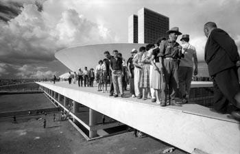Foto parlementsgebouw Brasília in aanbouw