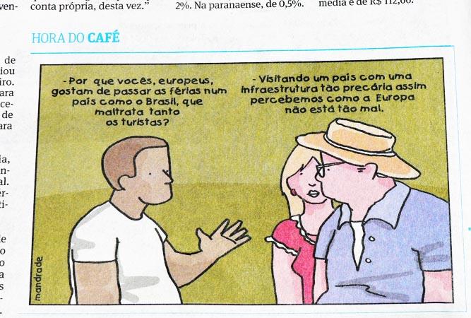Cartoon uit Braziliaanse krant