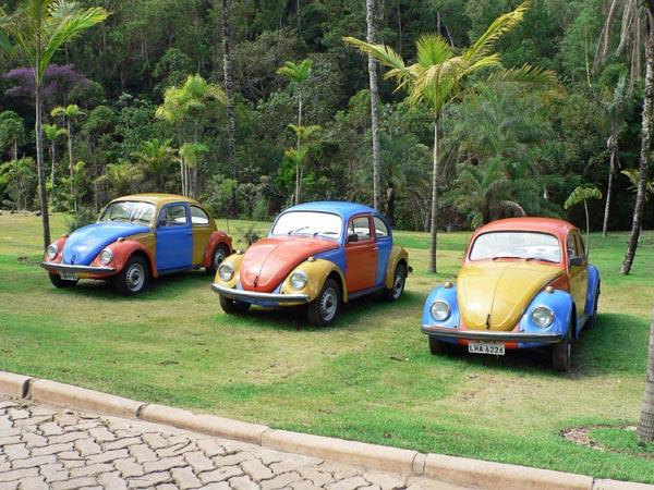 Foto veelkleurige Volkswagens Kever