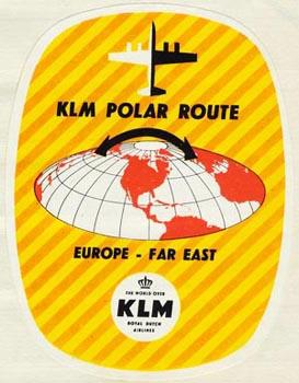 Sticker KLM Polar Route
