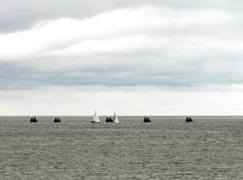 Foto uitzicht over zee bij Den Helder
