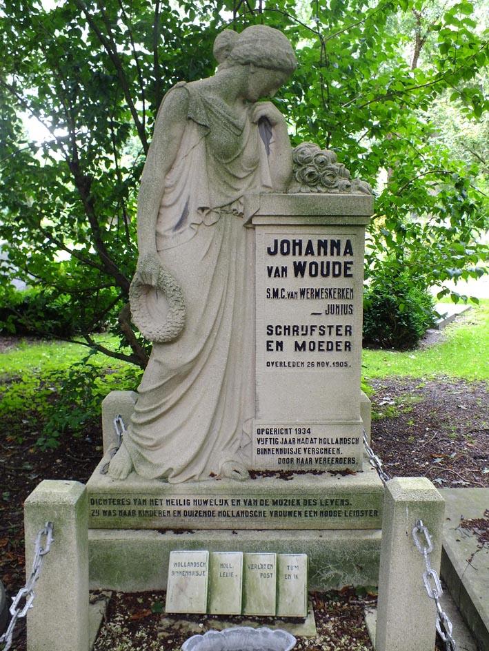 Grafmonument voor Johanna van Woude