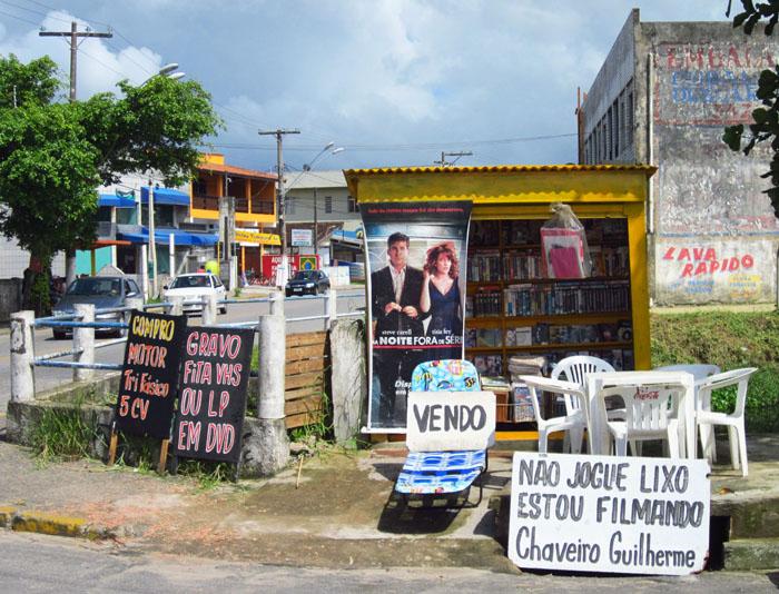 Foto van kleine videotheek (kiosk)