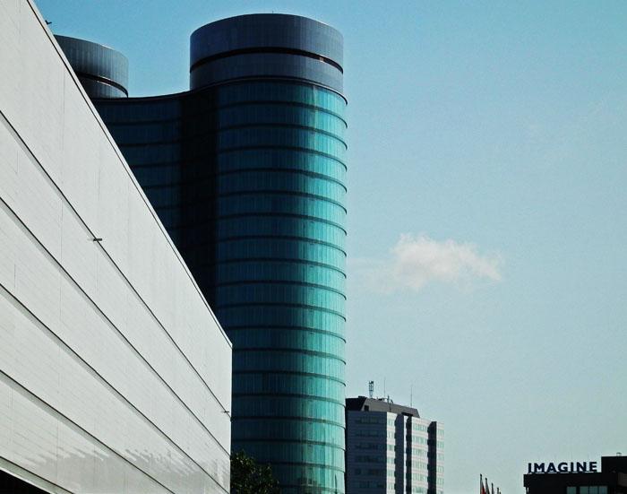 Foto van moderne gebouwen in Utrecht