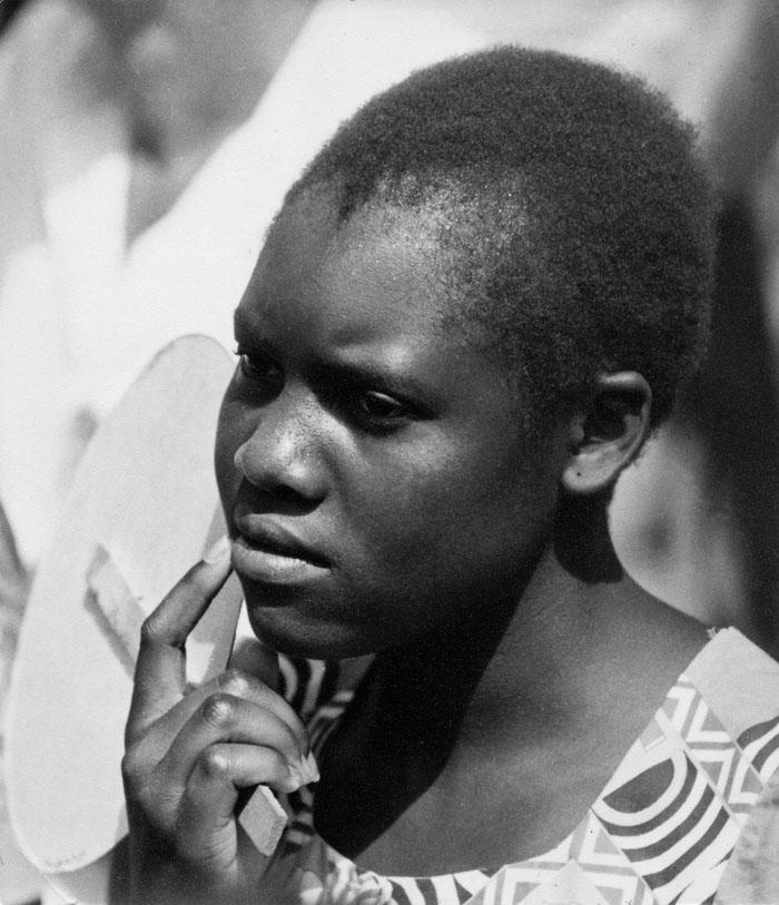 Portretfoto van Mozambikaanse vrouw