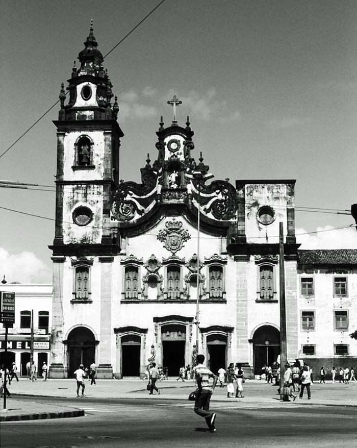 Foto kerk in Portugese stijl