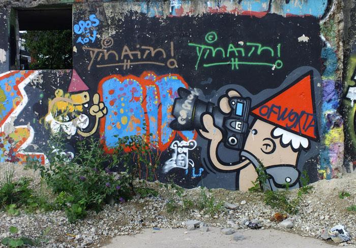 Foto van graffiti van een fotograaf