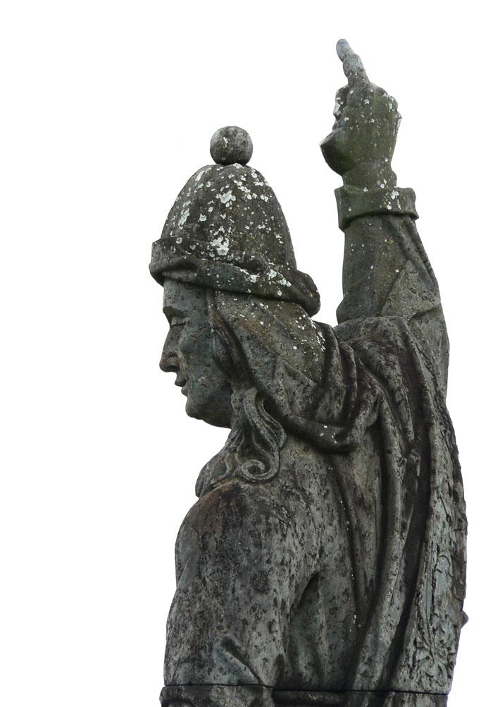 Foto van standbeeld van profeet Obadiah