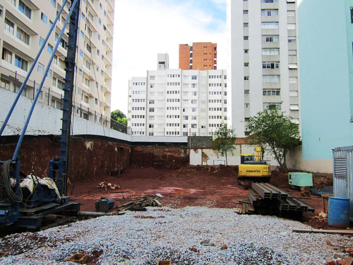 Foto van bouwterrin in São Paulo