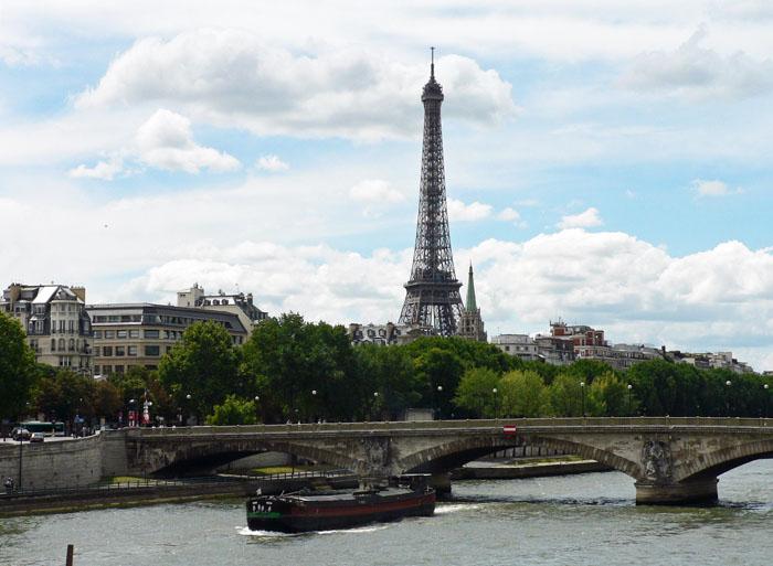 Foto van Seine, brug en IJffeltoren