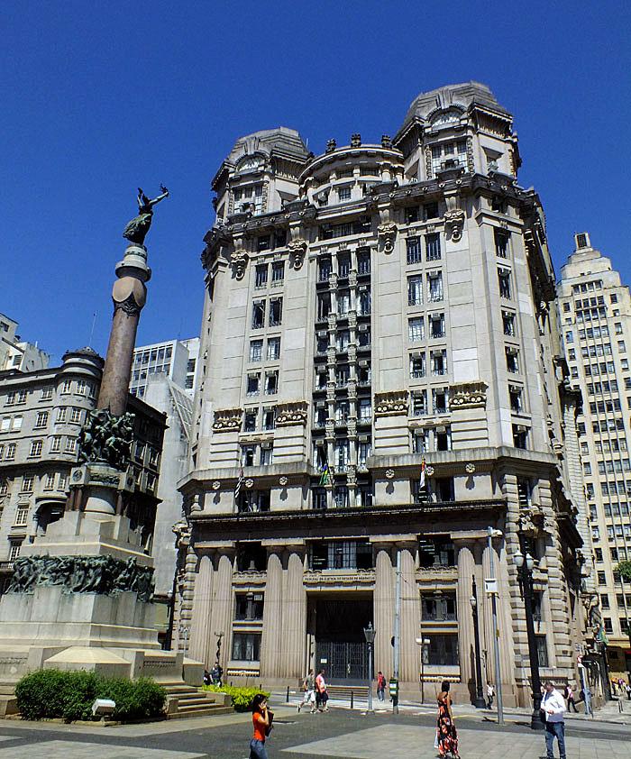 Foto van gebouw in oude centrum van São Paulo