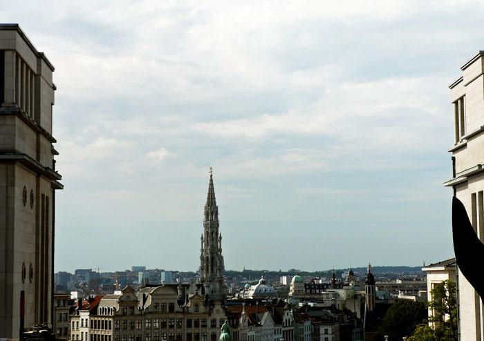 Foto uitzicht over Brussel