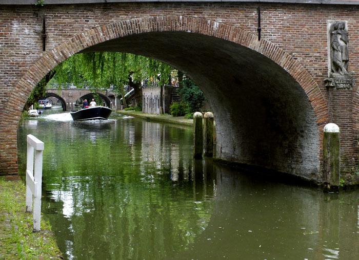 Foto van Geertebrug met bootje