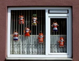 Foto van wk-hamsters voor raam