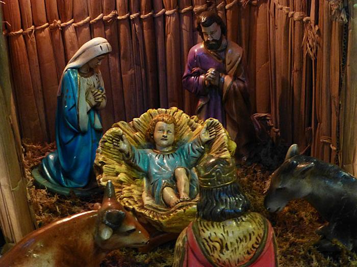 Foto van een kerststalletje