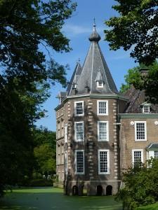 Foto van doorkijkje op kasteel