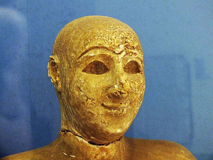 Foto van kop van standbeeld