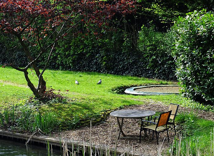 Foto van zitje in tuin