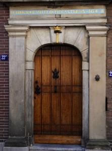 Foto van monumentale deur