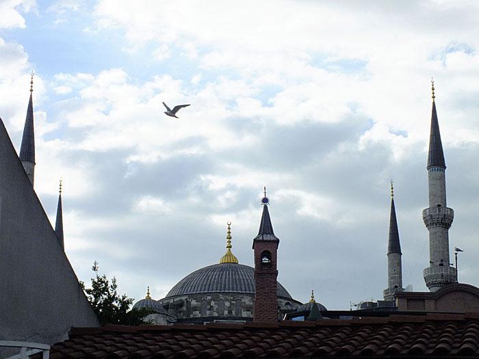 Foto van minaretten en koepel