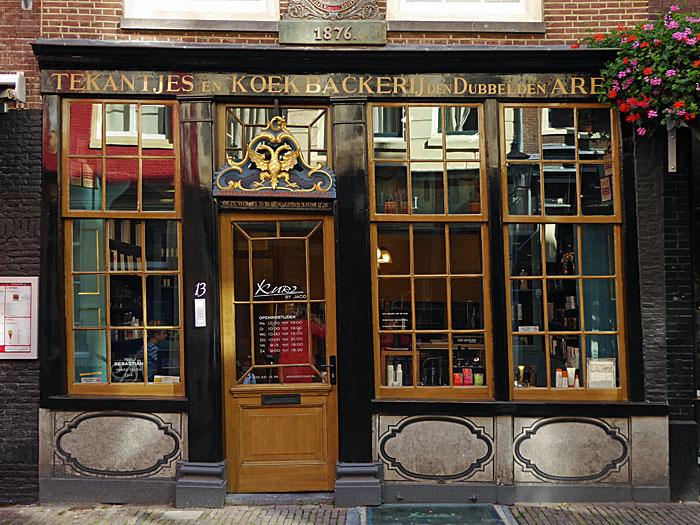 Foto van winkelpui van historische bakkerij