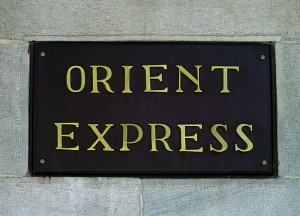 Foto van bordje 'Orient Express'