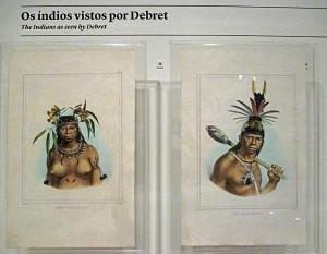 Foto van twee prenten met indianen