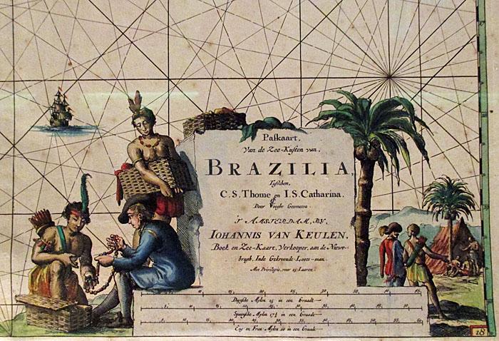 Foto van detail van kaart