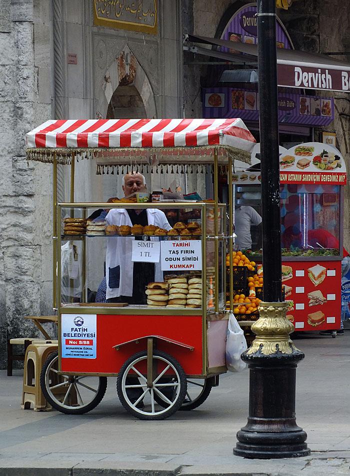 Foto van karretje van straatverkoper