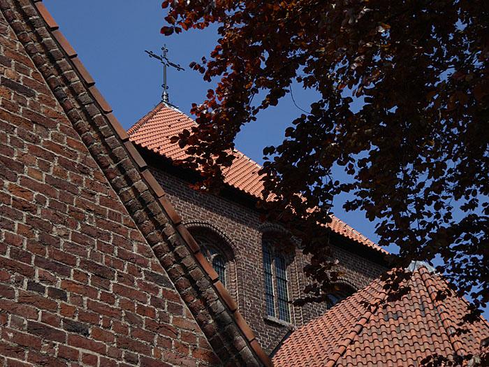Foto van dak van kerk