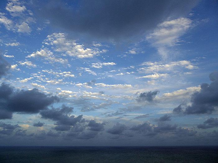 Foto van zee en lucht