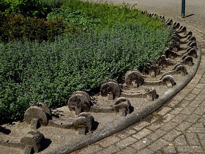 Foto van betonnen fietsenrekken