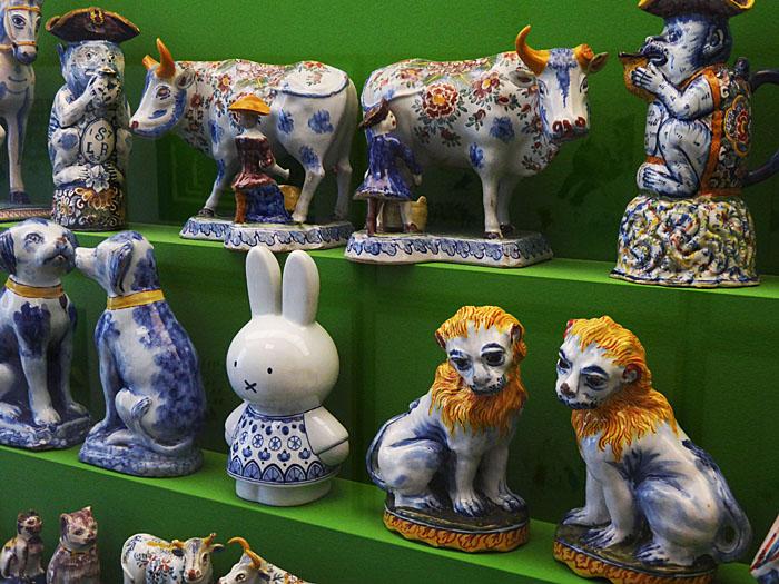 Foto van aardewerken dieren