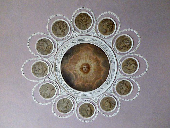 Foto van beschilderd plafond
