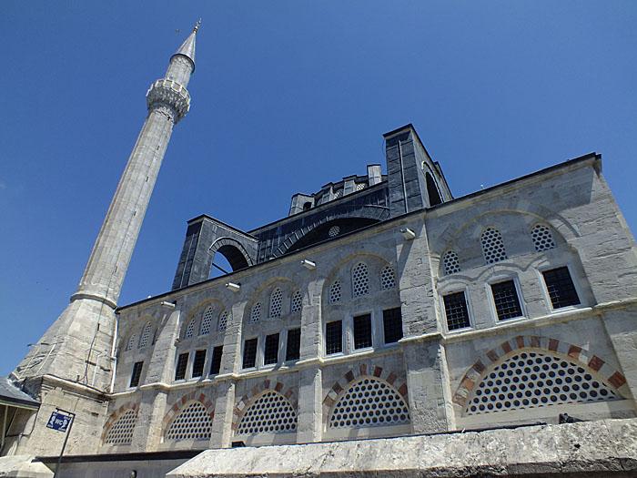 Foto van gevel met minaret