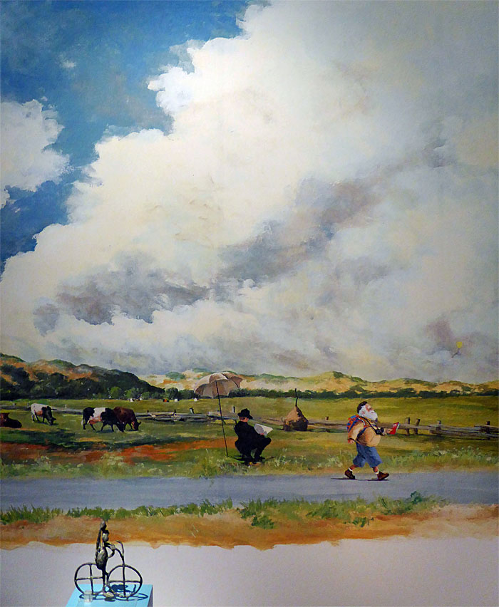 Foto van schilderij en beeldje