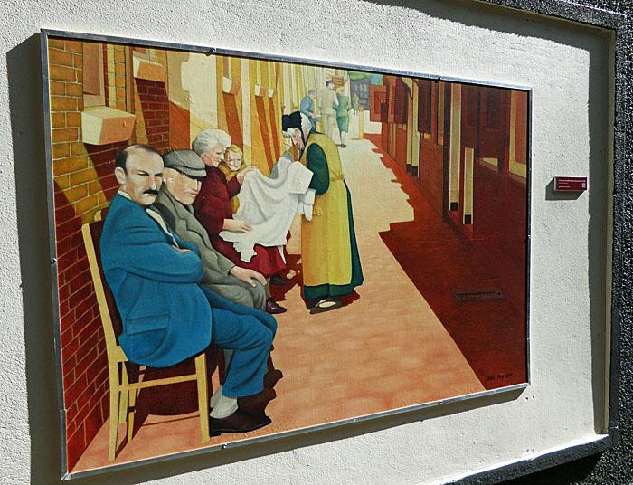Foto van schilderij van de Zakkendragerssteeg