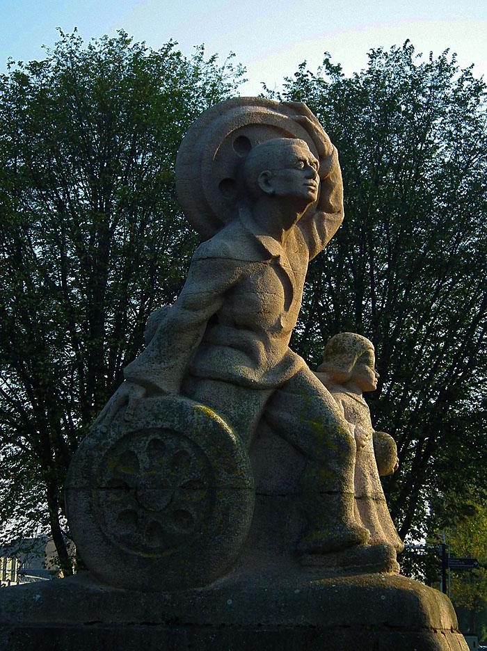 Foto van standbeeld
