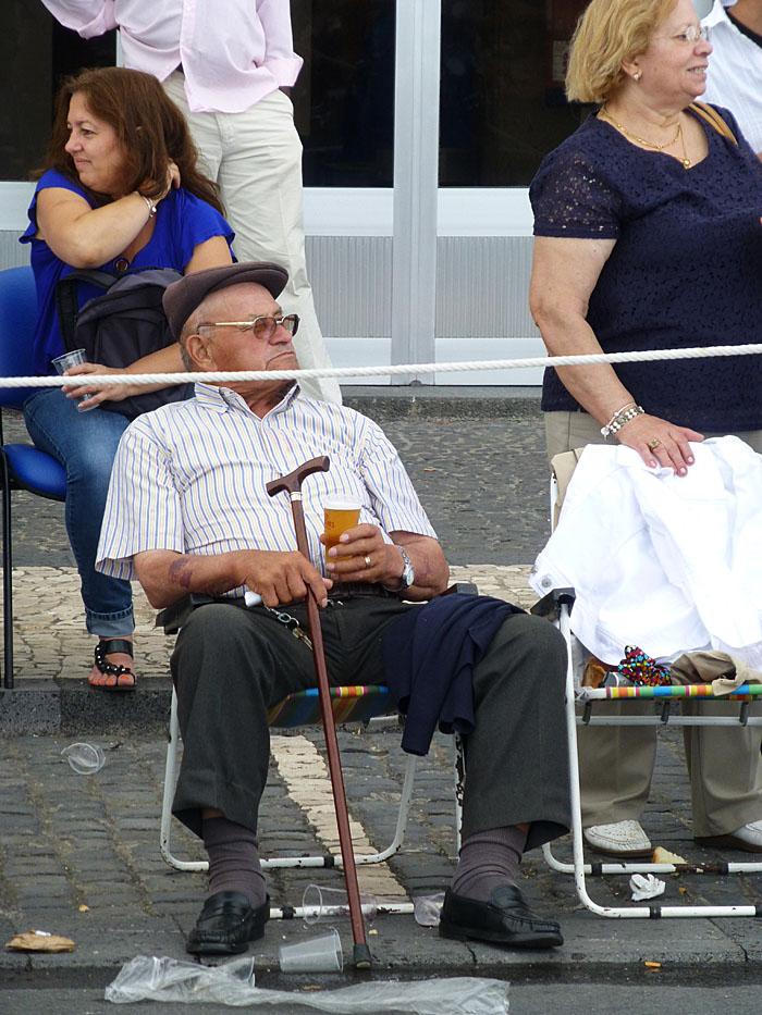 Foto van man met biertje